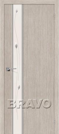 Межкомнатная дверь 3D-Graf серии Glace Глейс-1 Sprig 3D Cappuccino