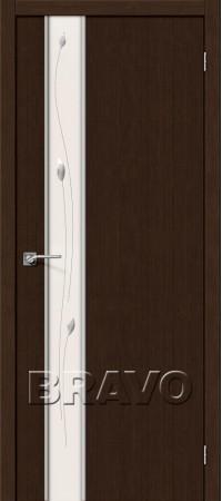 Межкомнатная дверь 3D-Graf серии Glace Глейс-1 Sprig 3D Wenge