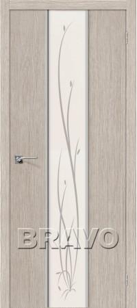 Межкомнатная дверь 3D-Graf серии Glace Глейс-2 Twig 3D Cappuccino