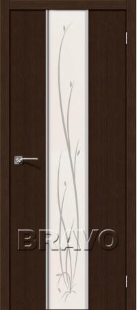 Межкомнатная дверь 3D-Graf серии Glace Глейс-2 Twig 3D Wenge