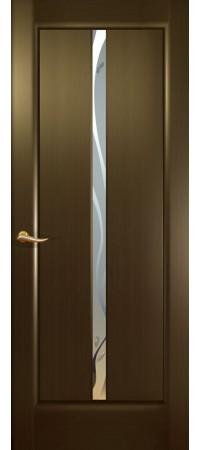 Межкомнатная дверь Новая волна (Гл.) Венге