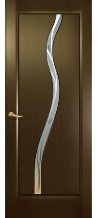 """Межкомнатная дверь """"Новая волна"""" (Z стек. белое.) Венге"""