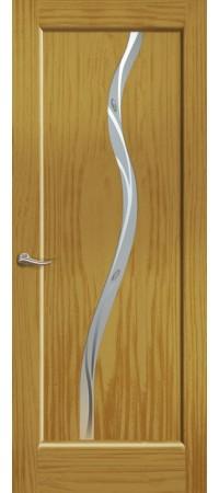 """Межкомнатная дверь """"Новая волна"""" (Z стек. белое) Ясень шервуд"""