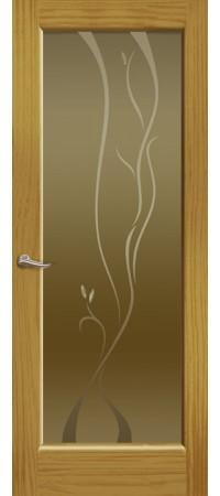 """Межкомнатная дверь """"Новая волна"""" (P стек. бронзовое) Ясень шервуд"""