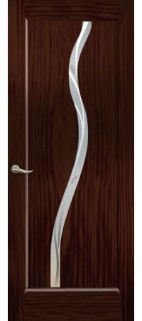 """Межкомнатная дверь """"Новая волна"""" (Z стек. белое) Ясень винтаж"""