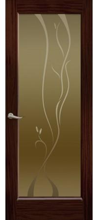 """Межкомнатная дверь """"Новая волна"""" (P стек. бронзовое) Ясень винтаж"""