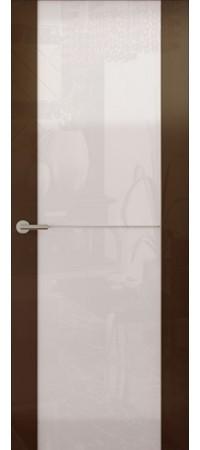 Межкомнатная дверь серии Italy Avorio-1 (Стек. белое) Глянец белый