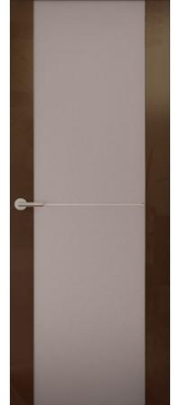 Межкомнатная дверь серии Italy Avorio-1 (Стек. матовое) Глянец белый