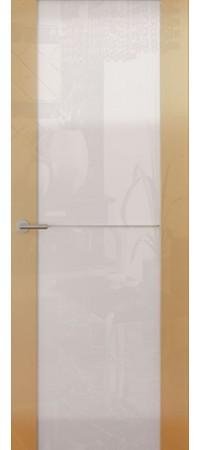 Межкомнатная дверь серии Italy Avorio-1 (Стек. белое) Глянец графит
