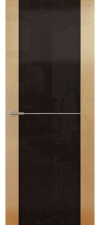 Межкомнатная дверь серии Italy Avorio-1 (Стек. черное) Глянец винтаж