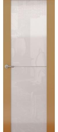 Межкомнатная дверь серии Italy Avorio-1 (Стек. белое) Глянец мокко