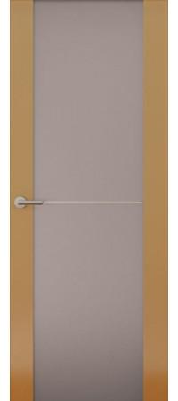 Межкомнатная дверь серии Italy Avorio-1 (Стек. матовое) Глянец мокко