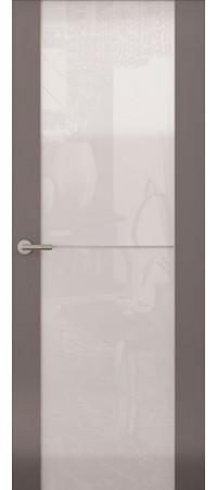 Межкомнатная дверь серии Italy Avorio-1 (Стек. белое) Матовый графит