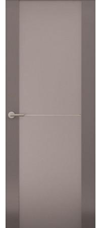 Межкомнатная дверь серии Italy Avorio-1 (Стек. матовое) Матовый графит