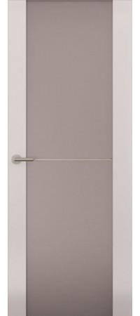 Межкомнатная дверь серии Italy Avorio-1 (Стек. матовое) Матовый белый