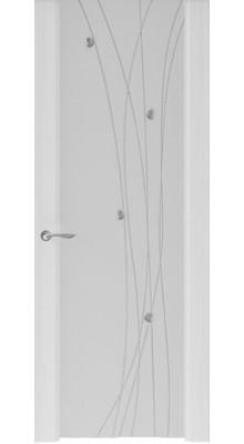 Murano-2 (стек. белое) Ясень серый
