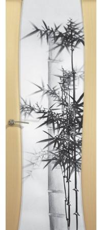 """Межкомнатная дверь  серии Prestige Буревестник-2 Беленый дуб """"Бамбук""""(ст)"""