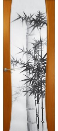 """Межкомнатная дверь  серии Prestige Буревестник-2 Анегри """"Бамбук""""(ст)"""