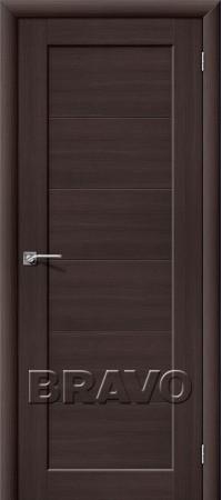 Межкомнатная дверь из Эко Шпона серии Aqua Аква-1 Wenge Veralinga