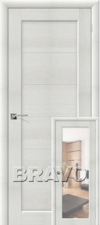 Межкомнатная дверь из Эко Шпона серии Aqua Аква-1/2 Bianco Veralinga