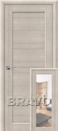 Межкомнатная дверь из Эко Шпона серии Aqua Аква-1/2 Cappuccino Veralinga