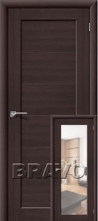 Межкомнатная дверь из Эко Шпона серии Aqua Аква-1/2 Wenge Veralinga