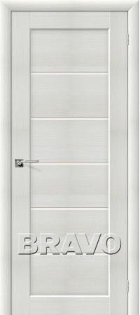 Межкомнатная дверь из Эко Шпона серии Aqua Аква-2 Bianco Veralinga