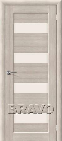 Межкомнатная дверь из Эко Шпона серии Aqua Аква-3 Cappuccino Veralinga