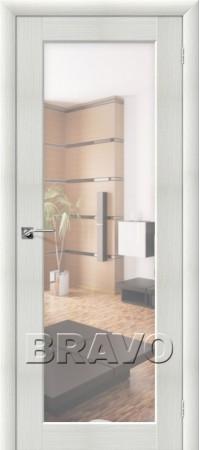 Межкомнатная дверь из Эко Шпона серии Aqua Аква-7 Bianco Veralinga