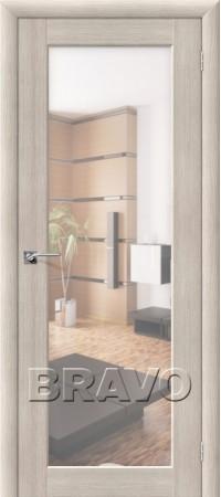 Межкомнатная дверь из Эко Шпона серии Aqua Аква-7 Cappuccino Veralinga