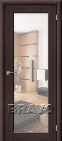 Межкомнатная дверь из Эко Шпона серии Aqua Аква-7 Wenge Veralinga