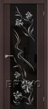 Межкомнатная дверь из Эко Шпона серии Soft S-13 Print Wenge Veralinga