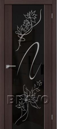 Межкомнатная дверь из Эко Шпона серии Soft S-13 Stamp Wenge Veralinga
