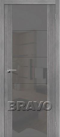 Межкомнатная дверь из Эко Шпона серии Vetro V4 S Grey Veralinga