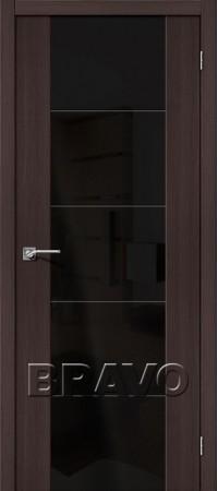 Межкомнатная дверь из Эко Шпона серии Vetro V4 BS Wenge Veralinga