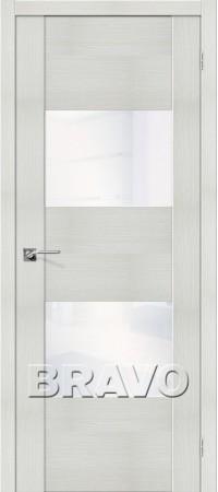 Межкомнатная дверь из Эко Шпона серии Vetro VG2 WW Bianco Veralinga