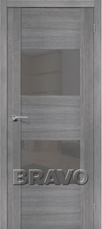 Межкомнатная дверь из Эко Шпона серии Vetro VG2 S Grey Veralinga