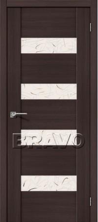 Межкомнатная дверь из Эко Шпона серии Vetro VM4 Wenge Veralinga