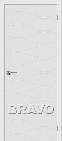 Межкомнатная дверь серии Fix с отделкой белой эмалью Граффити-3 К-33 (Белый)