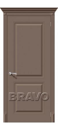 Межкомнатная дверь серии Flex с отделкой эмалью Блюз К-13 (Мокко)