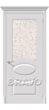 Межкомнатная дверь серии Flex с отделкой эмалью Джаз К-23 (Белый)