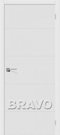 Межкомнатная дверь серии Flex с отделкой эмалью Граффити-2 К-23 (Белый)