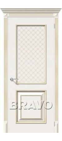 Межкомнатная дверь серии Flex с отделкой эмалью Лаунж Плюс К-11 (Латте Золото)