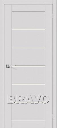 Межкомнатная дверь серии Legno с отделкой Эмалитом Легно-22 Alaska