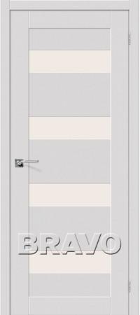 Межкомнатная дверь серии Legno с отделкой Эмалитом Легно-23 Alaska