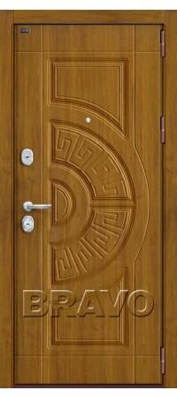 Входная металлическая дверь класс Премиум  - Р3-302 П-4 (Золотой Дуб)