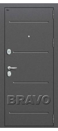 Входная металлическая дверь класс Премиум - Т2-223 (95 мм) Cappuccino Veralinga/White Pearl