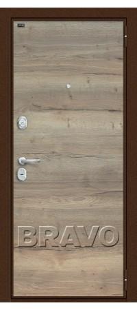 Входная металлическая дверь класс Премиум - Т3-300 Tobacco Oak/Natural Oak