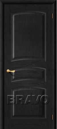 Межкомнатная дверь из массива Классическая Вега-2 (ПО)Т-30 (Светлый Орех)