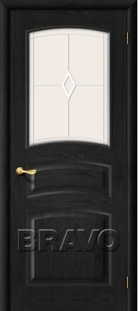 Межкомнатная дверь из массива Классическая Вега-18Т-31 (Темный Орех)